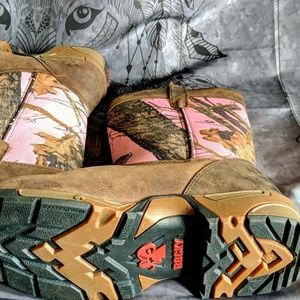 Rocky Shoes - Rocky pink camo boots